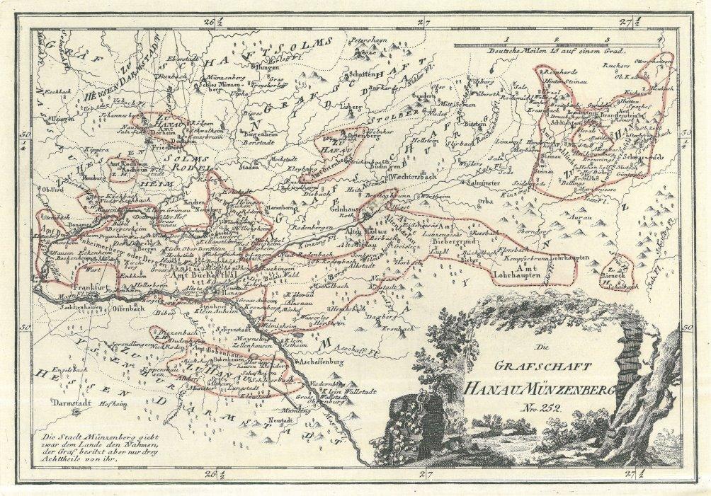 Hanau Karte