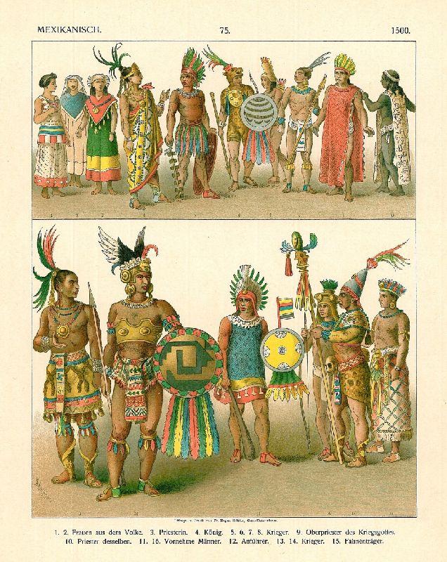 ancient aztec clothing - 634×799